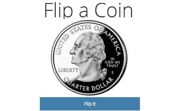 Flip a Coin. Juegos de Google