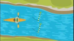 Piraguismo en eslalon. Juegos de Google