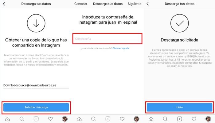 Como hacer copia de seguridad de mis archivos de Instagram