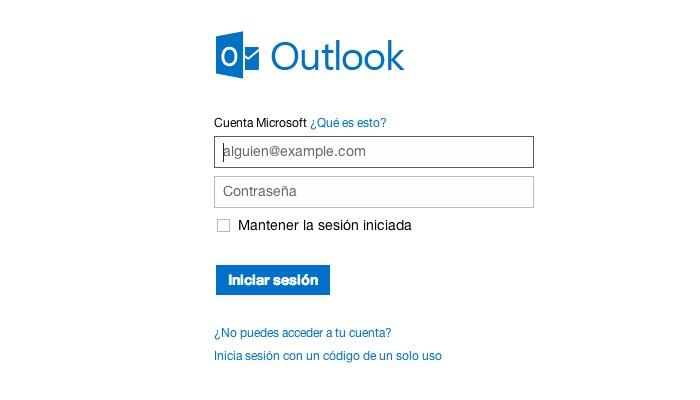 Cuenta de correo Outlook
