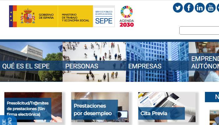Portal web SEPE