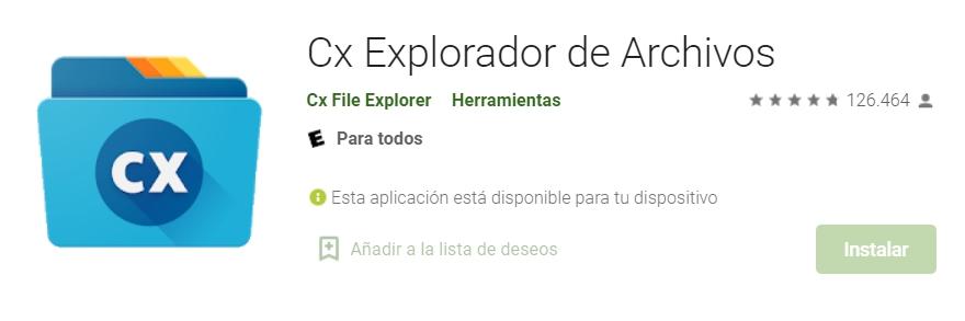 Cx File Explorer - gestor de archivos