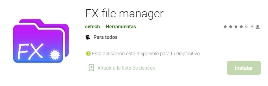 FX File Manager - archivos controlados