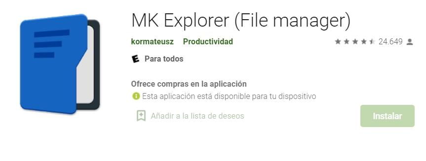 exploradores de archivos para android