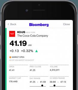 Bloomberg es un recurso de información reputado y detallado en comparación con otras aplicaciones bursátiles del mercado.